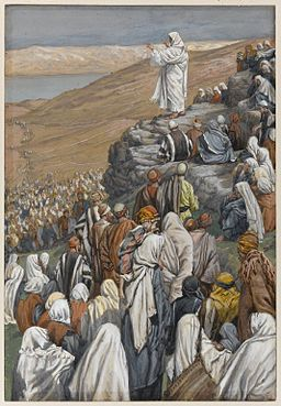 James Tissot, La sermon des béatitudes between 1886 and 1894  opaque watercolor over graphite on gray wove paper Brooklyn Museum
