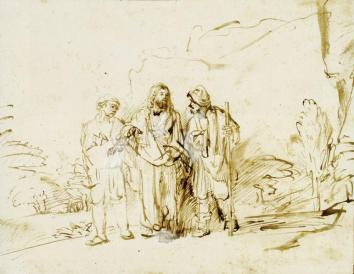 Rembrandt_Christ_with_two_disciples