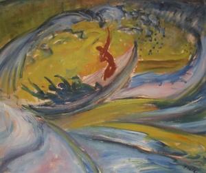 Waldemar Flaig,  Jesus mit den Jüngern im Sturm