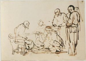 Rembrandt (1606-1669) Le lavement des pieds between 1640 and 1649 Rijksmuseum Amsterdam