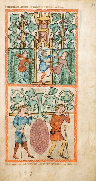 Speculum Humanae Salvationis, Westfalen oder Köln, um 1360