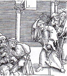 Lucas Cranach the Elder (1472-1553) Jesús expulsa a los fariseos del Templo, 1521
