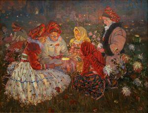 Joža Uprka, 1860-1941 All Souls' Day oil on canvas, 1897 Prague, National Gallery Joža Uprka [Public domain or Public domain], via Wikimedia Commons