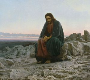 Ivan Nikolaevich Kramskoi (1837-1887) Le Christ dans le désert, 1872 Ivan Nikolaevich Kramskoi [Public domain], via Wikimedia Commons