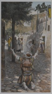 James Tissot (1836-1902) Guérison des lépreux à Capernaum, between 1886 and 1894 Brooklyn Museum
