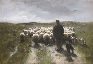 Anton Mauve, 1838-1888 Shepherd and Sheep oil on canvas, ca.1880 Cincinnati Museum of Art
