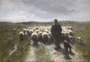 Anton Mauve, 1838-1888 Shepherd and Sheep oil on canvas, ca.1880 Cincinnati Museum of Art