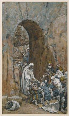 James Tissot (1836-1902) Il ne fit pas des miracles mais il guérit Opaque watercolor over graphite on gray wove paper, 1886-`896 Brooklyn Museum of Art