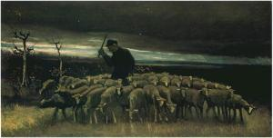 Vincent van Gogh, 1853-1890 Shepherd with a Flock of Sheep Nuenen, September 1884 oil on canvas Mexico City, Museo Soumaya