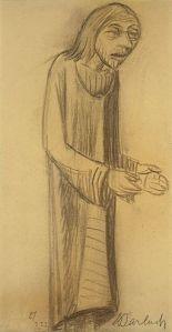 Ernst Barlach, 1870-1938 Lehrender Christus, mit vorgestreckten Händen, 1922