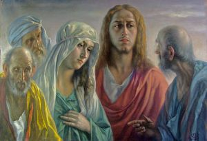 Tita Gori (1870-1941) Jésus-Christ entouré de disciples et d'une sainte femme Collection privée By Jean-Marc Pascolo (Own work) [CC BY-SA 3.0], via Wikimedia Commons