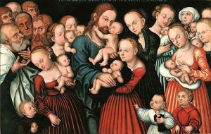Lucas Cranach the Elder, 1472-1553 Christ Blessing the Children oil on panel, 1537 Kraków, Wawel Castle