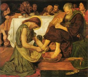 Ford Madox Brown (1821-1893) Jesus Washing Peter's Feet oil on canvas, 1852-1856 Tate