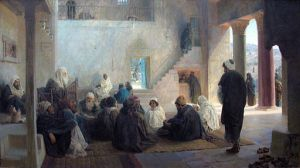 Vasily Polenov (1844-1927) Christ Among Teachers, 1896 Moscow, Tretyakov Gallery