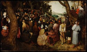 Pieter Brueghel the Elder (1526/1530–1569) The Sermon of St John the Baptist oil on oak, 1566 Budapest, Museum of Fine Arts