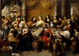 Jan Cossiers, 1600-1671 The wedding at Cana: Jesus blesses the water oil on canvase, 1641-1660 Herentals, Saint Waltrude's Church