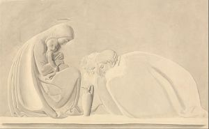 John Flaxman (1755-1826) The Adoration of the Magi Graphite with gray wash and watercolor on medium, slightly textured, cream wove paper Yale Center for British Art