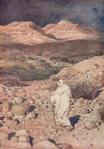 William Hole (1846-1917) Temptation of Jesus in the desert Watercolor, ca.1900-1908