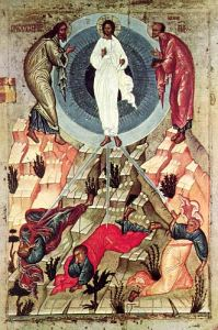 Икона, Преображение Господне, 15 в. Новгород Icon, Transfiguration of the Lord, 15th c., Novgorod