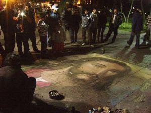 Dibujo de Jesucristo, en acuarela. Parque de la Exposición. Lima, Perú.By Dtarazona (Own work) [GFDL], via Wikimedia Commons
