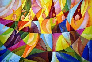 Ed de Guzman Pentecost gouache on special paper, 2014