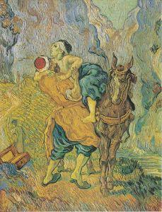 Vincent van Gogh (1853-1890_ Der barmherzige Samariter (nach Delacroix) Saint-Rémy, May 1890 oil on canvas Kröller-Müller Museum