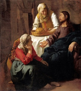 Johannes Vermeer, 1632-1675 Christ in the House of Martha and Mary oil on canvas, between ca.1654 and ca.1656 Scottish National Gallery