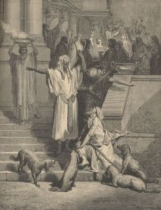 Gustave Doré, 1832-1883 The parable of the rich man and Lazarus, from the Gospel of Luke 1891