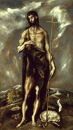 El Greco (1541-1614) San Juan Bautisto oil on canvas, between ca.1600 and ca1605 Museu de Belles Arts de València