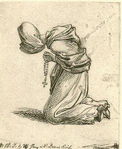 Daniel Chodowiecki (1726 – 1801) Betende Frau mit Rosenkranz, 1773